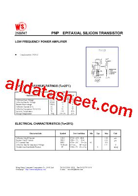 2SB507 Datasheet(PDF)   Wing Shing Computer Components