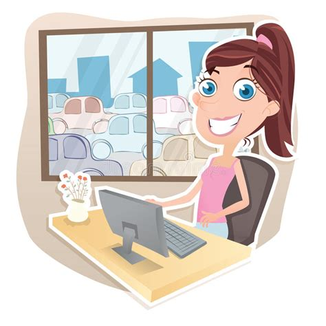 Work From Home Cartoon Pictures