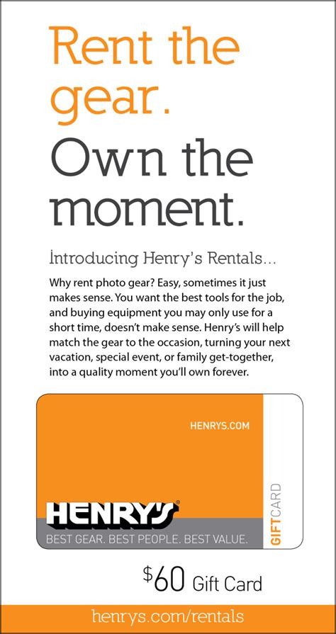 Henrys Gift Card - how you can use a canon quot l quot series lens with henry s rentals technically easy