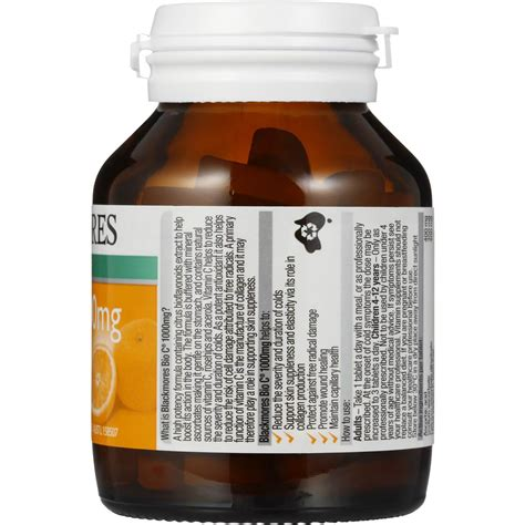 Blackmores Vitamin C 1000mg blackmores bio c tablets 1000mg 62pk woolworths