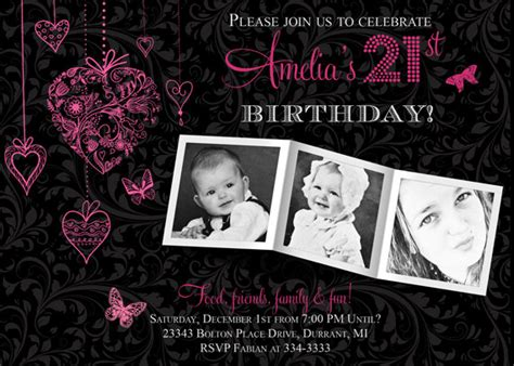 21st birthday invitation card templates free 21st birthday invitation ideas bagvania free printable