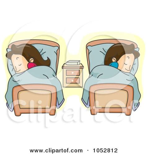 sleeping in separate beds royalty free rf bedroom clipart illustrations vector graphics 1