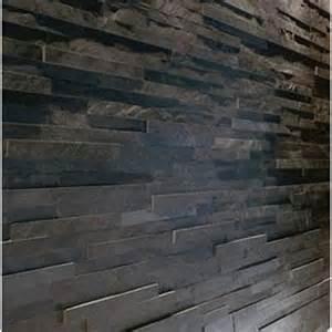 Black maxi slate split face mosaic tile z tile cladding 26