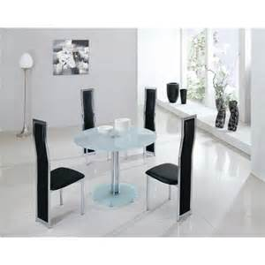 frosted round glass dining table