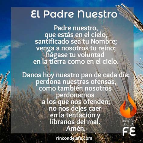 Imagenes Orando El Padre Nuestro | padre nuestro el padrenuestro oraciones cristianas