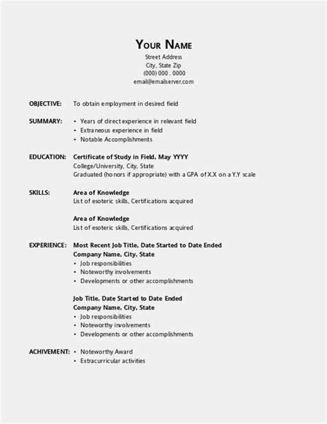 resume templates for openoffice resume template open office