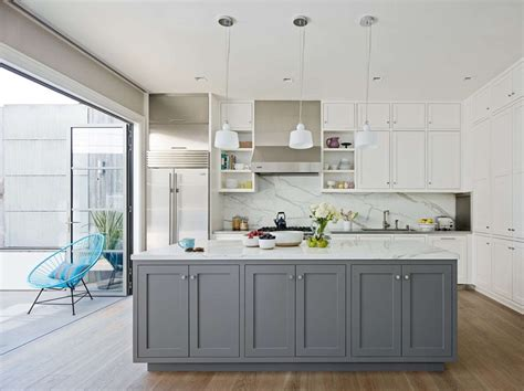 contrasting kitchen cabinets grey white traditional style kitchen grey shaker