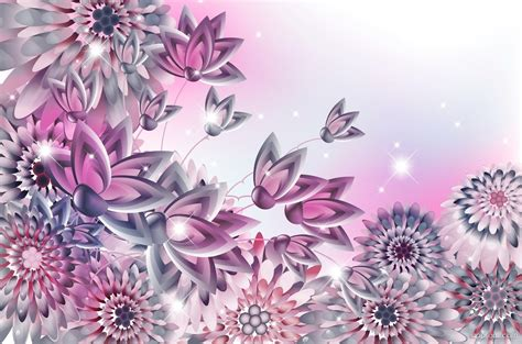 Wallpaper Stiker Motif Colour Pink Flower 1 pink flower design wallpaper flower hd