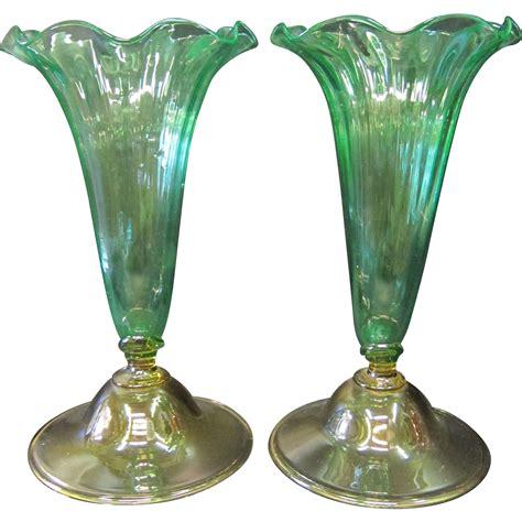 Steuben Glass Vase Vintage vintage steuben glass cornucopia vases from zinziantiques