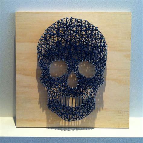 Skull String - string skull artsy string