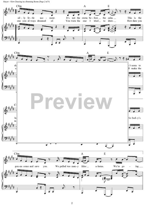 in a burning room chords in a burning room sheet for piano and more onlinesheetmusic