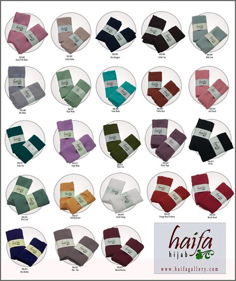 Jilbab Segi Empat Hicon katalog warna jilbab segiempat hicon haifa rumah