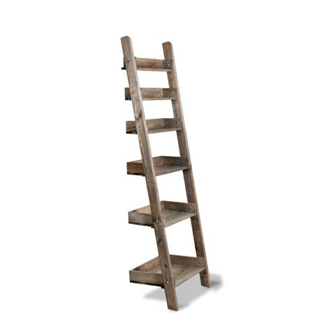 Rustic Ladder Bookcase Garden Trading Aldsworth Rustic Wooden Shelf Ladder At Black By Design