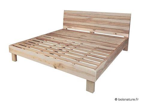 lit camanoe 200 de bois nature vente de meubles en bois massif en martinique et guadeloupe lit