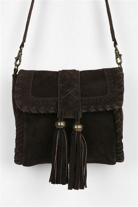 Outfitters Turquoise Suede Bag by Outfitters Ecote Suede Tassel Crossbody Bag In Brown