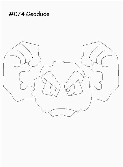 pokemon coloring pages geodude cartoni animati i pokemon mostri e personaggi del