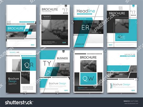 brochure layout text abstract binder layout a4 brochure cover stock vector