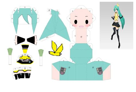 Miku Papercraft - modern sleek miku papercraft by lemonypv on deviantart
