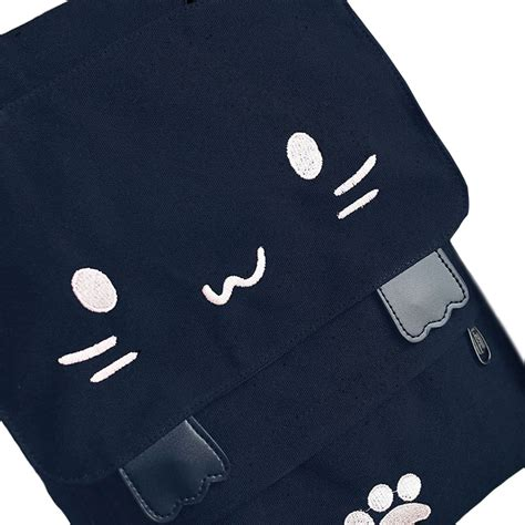 Backpack Cat The Moon luxy moon embroidered cat backpack meow kawaii box