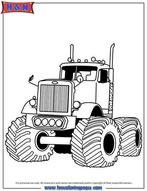 coloring page big truck big rig monster truck for boys coloring page h m