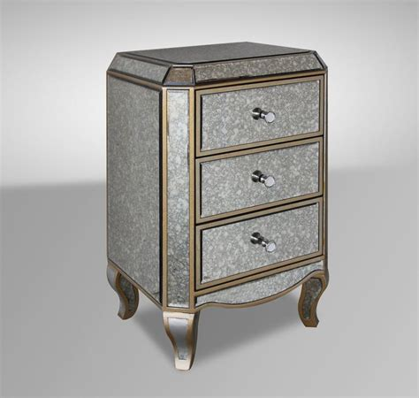 For Mirrored Nightstands by Transitional Mirrored Nightstand Ebay