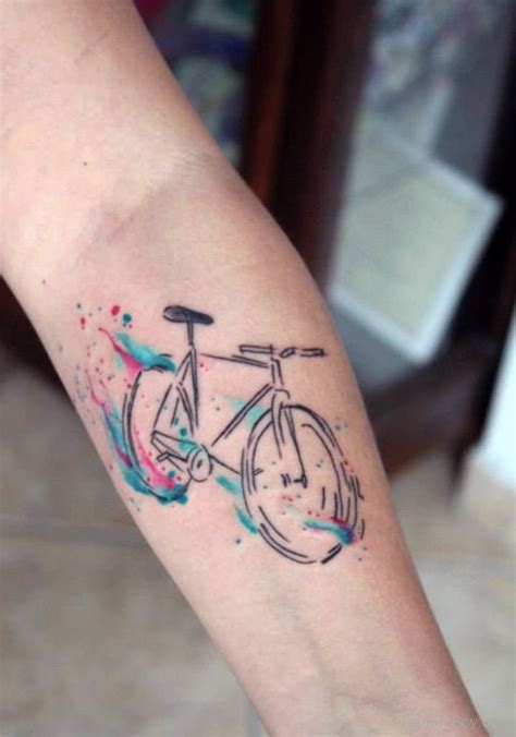 cycling tattoos bicycle tattoos designs pictures page 5