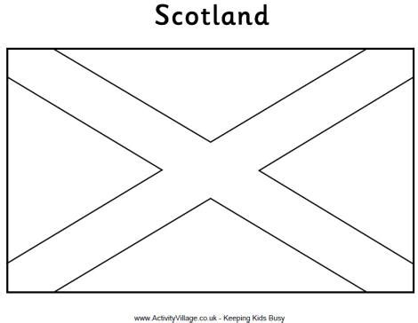 coloring book pages view print scottish flag colouring