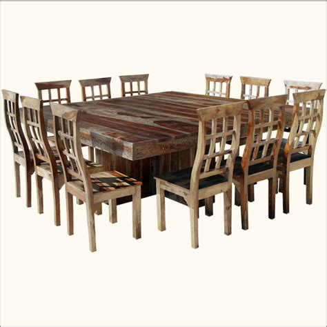 dallas ranch 13pc square pedestal large dining table
