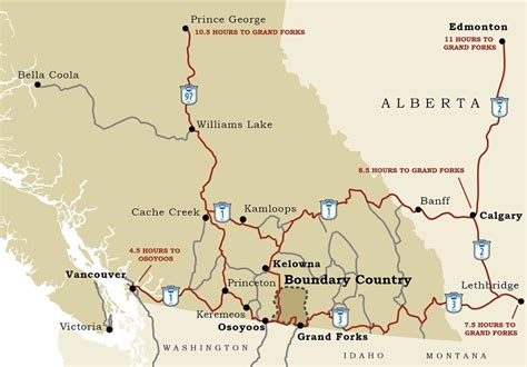 map of canada bc maps boundary country bc canada