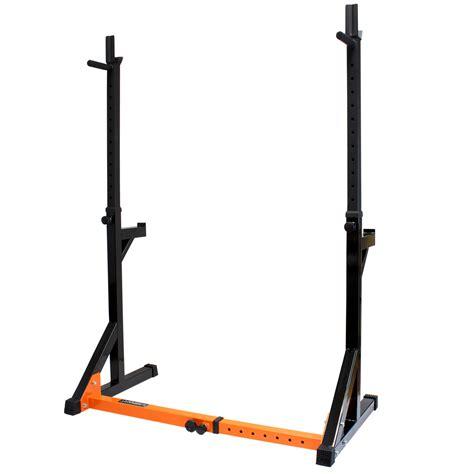 Dip Squat Rack by Mirafit Fully Adjustable Squat Dip Rack Weight Lifting Power Frame Cage Ebay