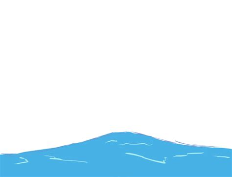 cartoon boat in waves animated water wave gif