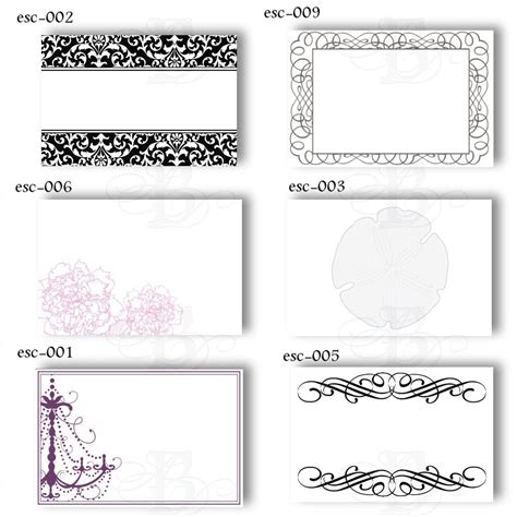 place card template border blank wedding name card templates free inspirations
