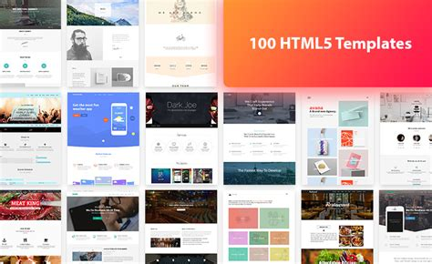 html5 templates free 100 html5 free template bundle offer from themewagon