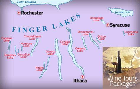 finger lakes ny map wine tours new york finger lakes limo wine tours