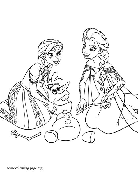 coloring page of elsa and anna free coloring pages of elsa and anna