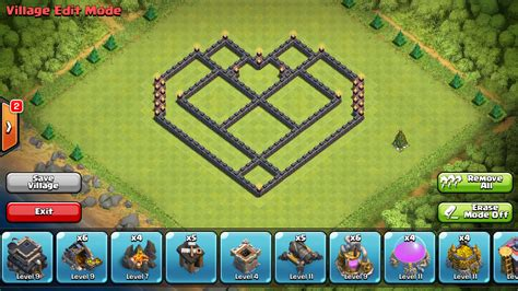 coc layout heart town hall 7 base layout farming www pixshark com