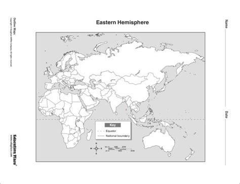 eastern hemisphere map 6th 12th grade worksheet lesson