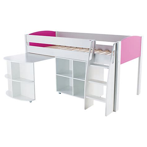 Mid Sleepers Beds by Buy Stompa Uno S Plus Mid Sleeper Bed With Pull Out Desk