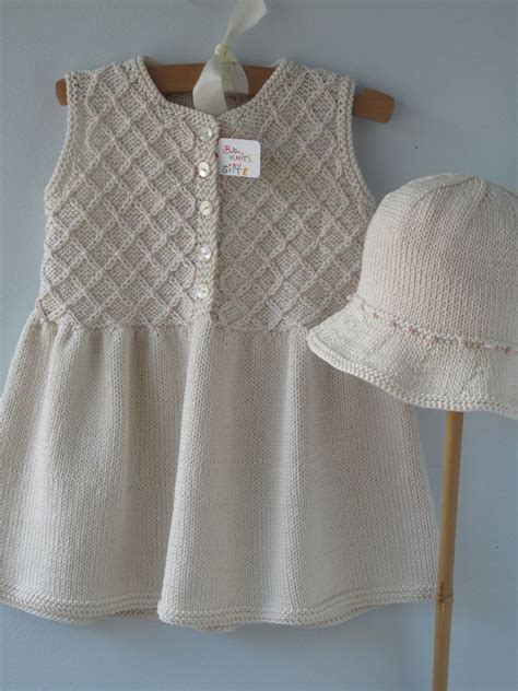 knitted smock dress baby clothes handmade knit smocked dress by