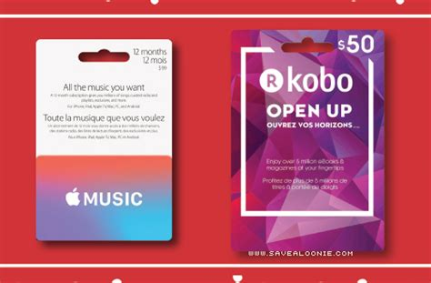 Kobo Gift Card Balance - shoppers drug mart apple music kobo gift cards