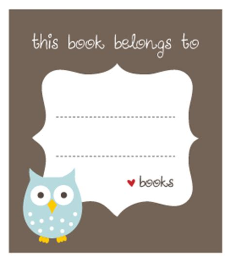 free printable bookplates templates printable owl bookplates bookplate labels book label