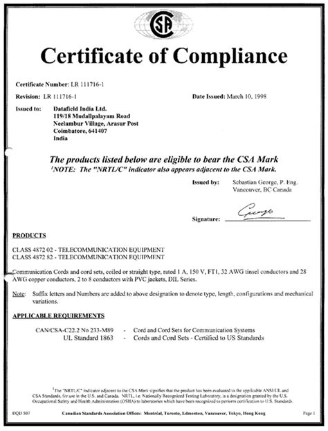 certification letter of compliance juares certificate of compliance
