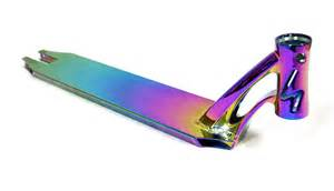 cool scooter decks cool neo chrome rainbow pro stunt
