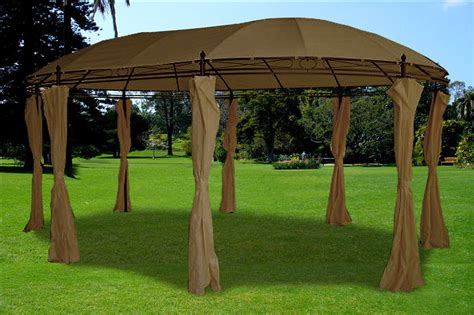 Steel Frame Gazebo Deluxe Gazebo 11 X17 Steel Frame Gazebo With