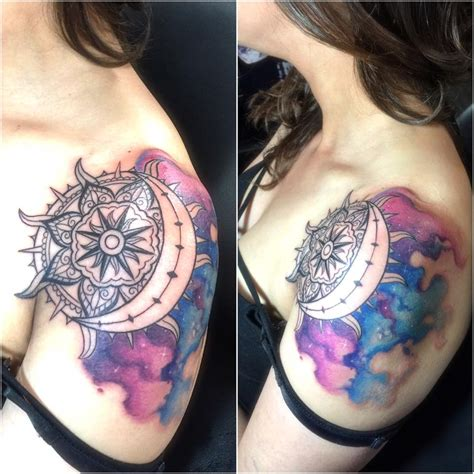 watercolor sun tattoo 56 wonderfully artistic sun and moon ideas for