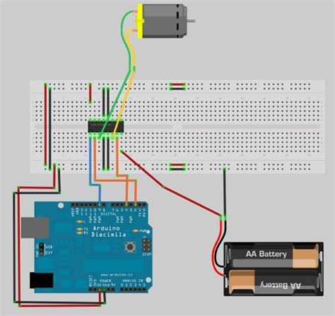 arduino code h bridge blog do miklos controlar motores dc com l293d