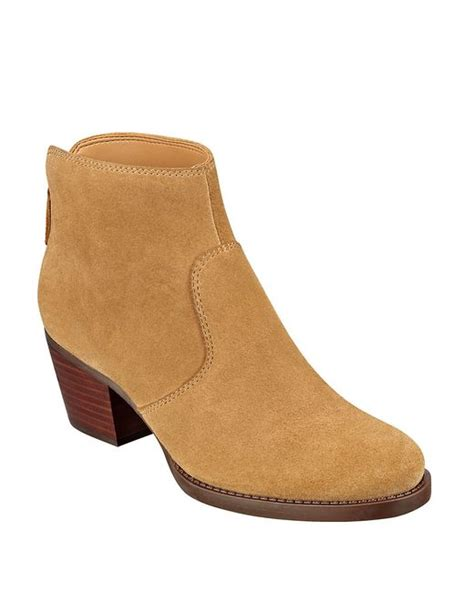 nine west bolt suede ankle boots in beige