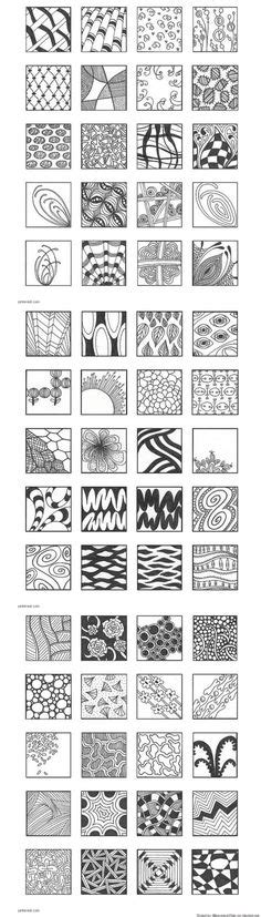 zentangle pattern guide scale01 by enajylime via flickr idee 235 n pinterest