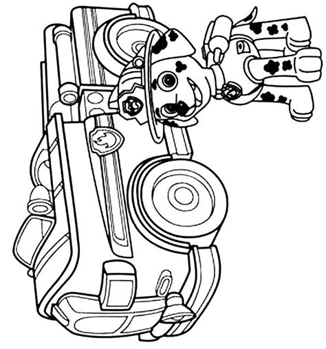 free coloring pages of paw patrol cat marshall