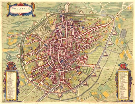 brussels map large detailed map of brussels city 1657 brussels city large detailed map of 1657